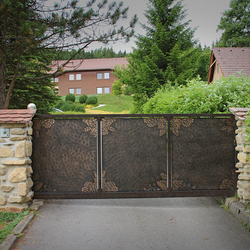 A wrought iron gate - a combination of traditional and modern