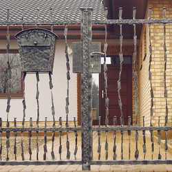 A modern wrought iron gate 'CRAZY' - A hand forged gate