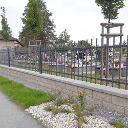 Fencing of the cemetery in Ľubotice near Prešov in eastern Slovakia – forged gate and fence from UKOVMI
