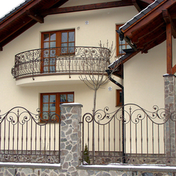 A wrought iron gate with the Renaissance elements