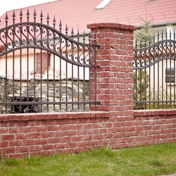 A wrought iron fence