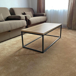 Metal coffee table in modern design – square design