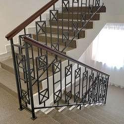Staircase railing made in Artistic Blacksmith UKOVMI