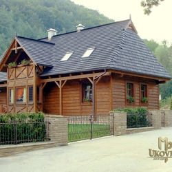 A wrought iron fence - cottage - 'Seclusion near the forest' - a gate BABIČKA